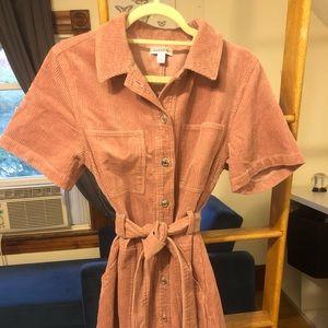 Pink corduroy Topshop Dress - Unworn